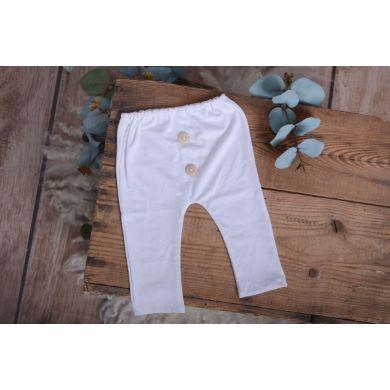 Pantalón de punto blanco