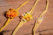 Pack coiffures florales jaune