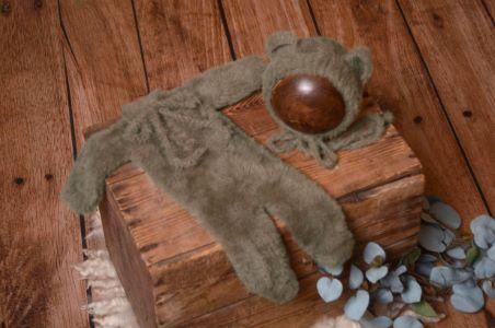 Mink fur hat and pyjama