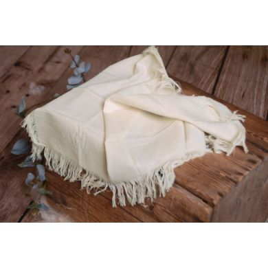 Off-white fringed little fabric
