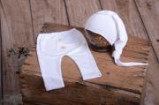 Pack pantalone e berretto liscio bianco