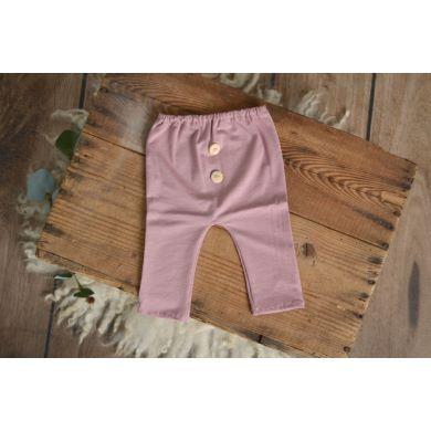 Pantalón de punto rosa palo