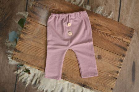 Pantalone in maglia rosa antico