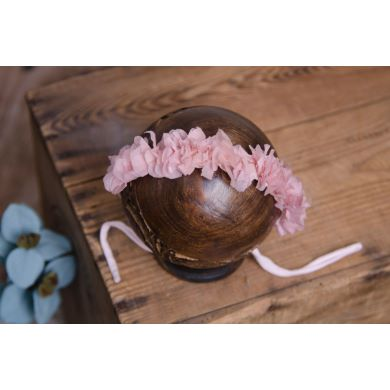 Light pink natural flower headdress