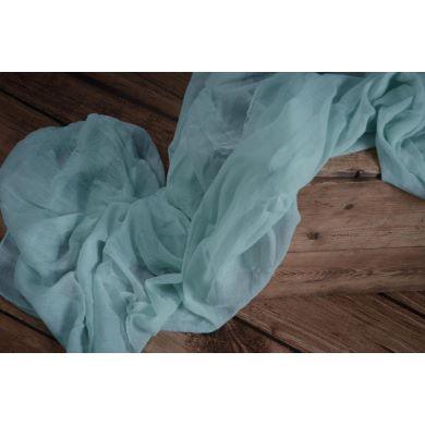 Wrap mousseline turquoise clair