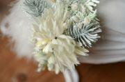 Cuffietta floreale sitter bianco e verde