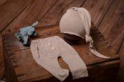Pack pantalon et bonnet lisse beige