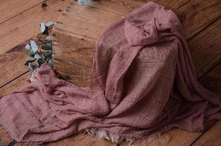 Wrap aus Baumwolle - malvenfarbig