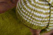 Conjunto angora rayas verde oliva