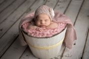 Large white rustic bucket