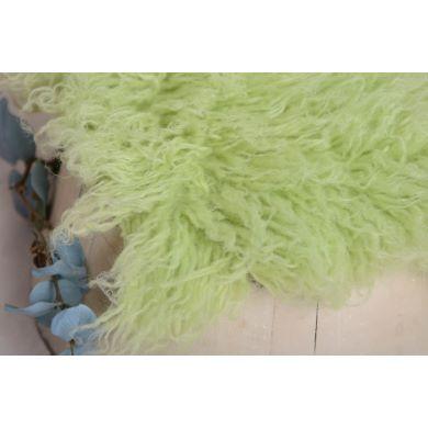 Flokati grande verde pastel