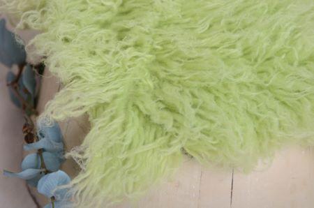 Großes Flokati in Pastellgrün