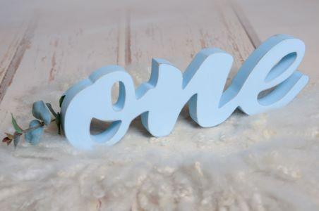 Letras one azul