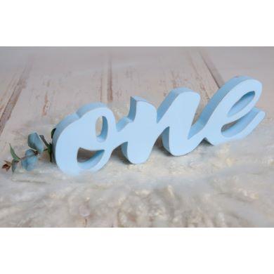 Lettres one bleu