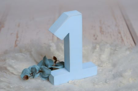 Blue number one