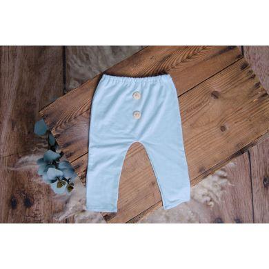Pantalon en maille bleu bébé