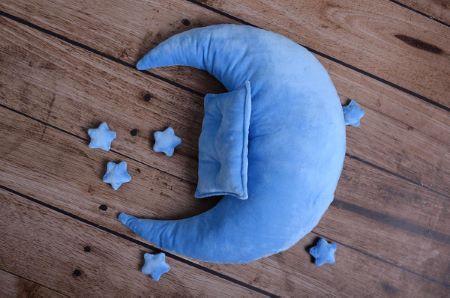 Set luna, cuscino e stelle celeste