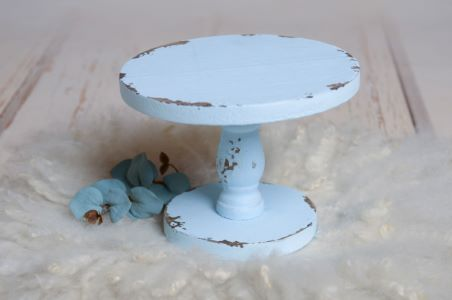 Soporte para tarta azul