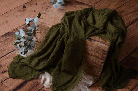 Wrap aus Baumwolle in Dunkelgrün