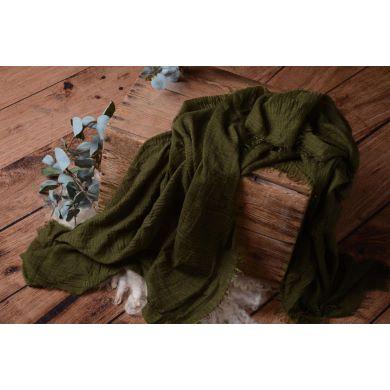 Wrap de algodón verde oscuro