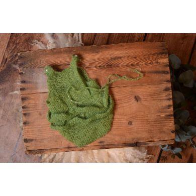 Justaucorps en mohair avec volants et serre-tête vert