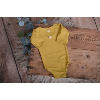 Mustard stitch long-sleeve bodysuit