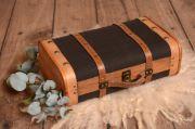 Small dark grey suitcase