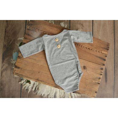 Body de punto con mangas gris