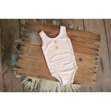 Baby pink stitch sleeveless bodysuit