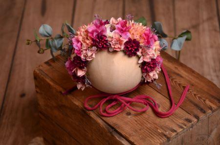 Capuche floral bébé rose