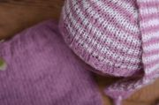 Bougainvillea striped mohair set