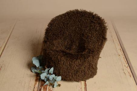 Khaki short-hair cover for armchair