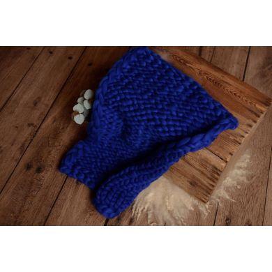 Yale blue plaited blanket
