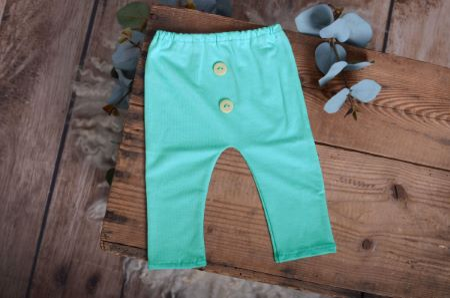 Pantalon en maille aigue-marine