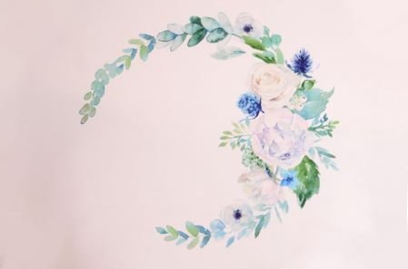 Wild-flowers printed fabric