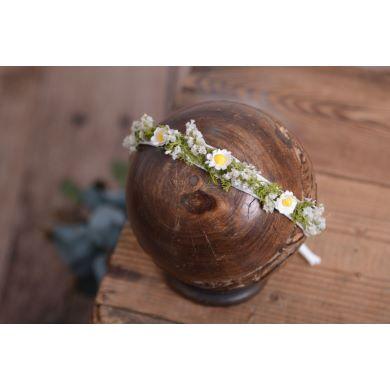 Coiffure florale blanc - Modèle 4
