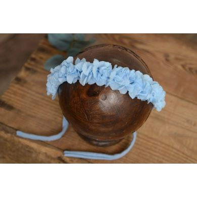 Sky blue natural flower headdress