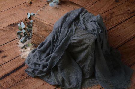 Wrap di cotone grigio bluastro