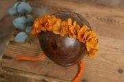 Coiffure fleur naturelle capucine