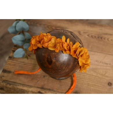 Russet natural flower headdress