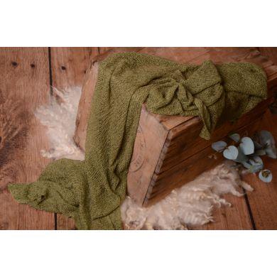 Olive green rayon wrap