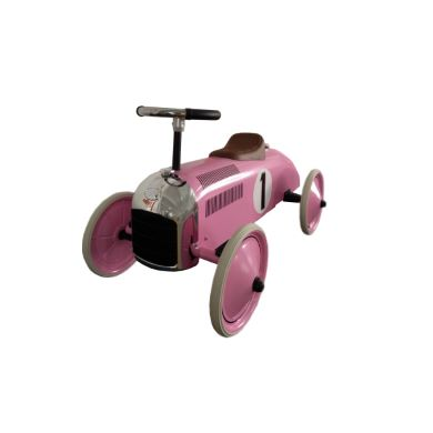 Pink and white racing car