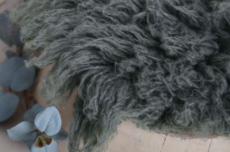 Dark grey medium flokati