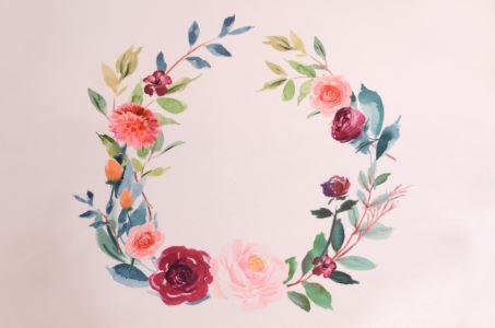 Roses printed fabric