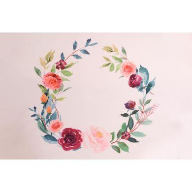 Tela estampada rosas