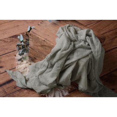 Wrap aus Baumwolle in Graugrün