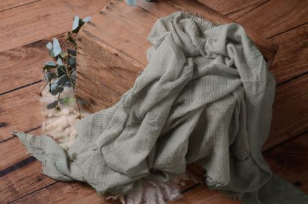 Greenish grey cotton wrap