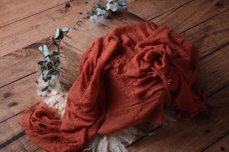 Dark orange cotton wrap