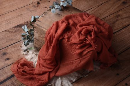 Wrap en coton orange foncé