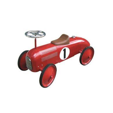 Red vintage racing car